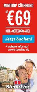 Mit Stena Line nach Schweden: Kiel-Göteborg