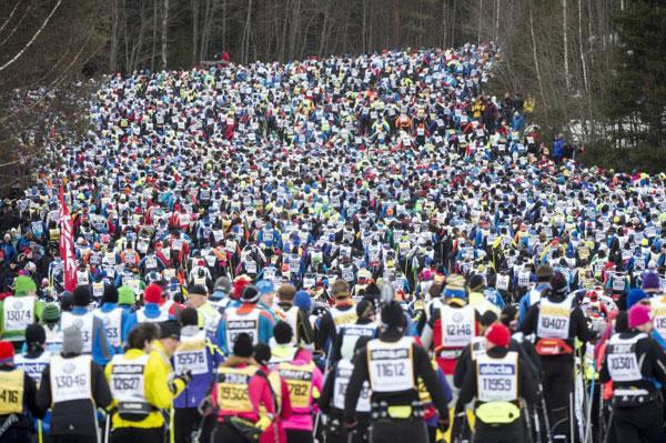 Jährlich nehmen rund 15.000 Menschen am Vasalopp teil. Foto: Vasaloppet/ Ulf Palm