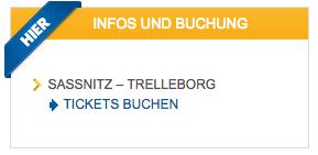 Sassnitz nach Trelleborg mit der Schwedenstube günstig Faehrtickets nach Schweden buchen