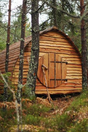 Wohnen im Wald bei Nyköping. Foto: Paltorps skogsby