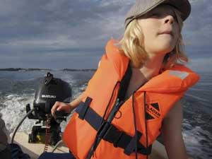 Aktiv an der frischen Seeluft. Foto: Melker Dahlstrand/ imagebank.sweden.se
