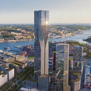 Der Karlatornet, geplant vom Göteborger Bauunternehmen Sernecke. Foto: Sernecke
