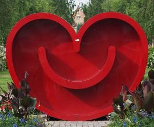 Das lächelnde Herz von Umeå. Foto: Jopparn/ commons.wikimedia.org/ (CC BY-SA 3.0)