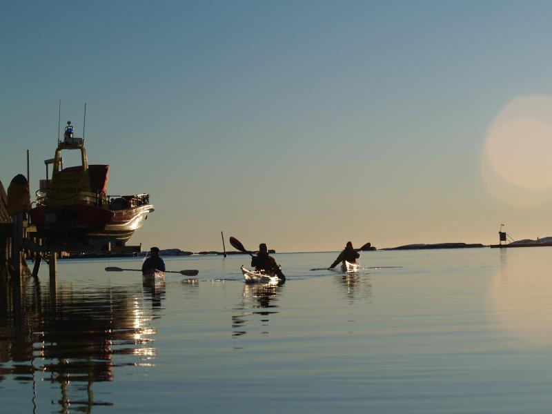 Im Winter haben Kajak-Enthusiasten das Meer fast für sich allein. Foto: Nautopp.