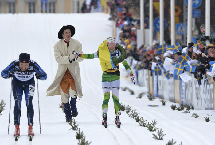 """Jedes Jahr eine schöne Verbindung aus altem Brauch und modernem Sportevent: Der """"Vasaloppet"""". Foto: © Vasaloppet / Nisse Schmidt"""
