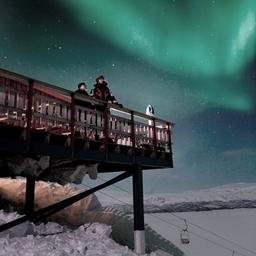 Zimmer mit Ausblick in der Aurora Sky Station. Foto: Authentic Scandinavia