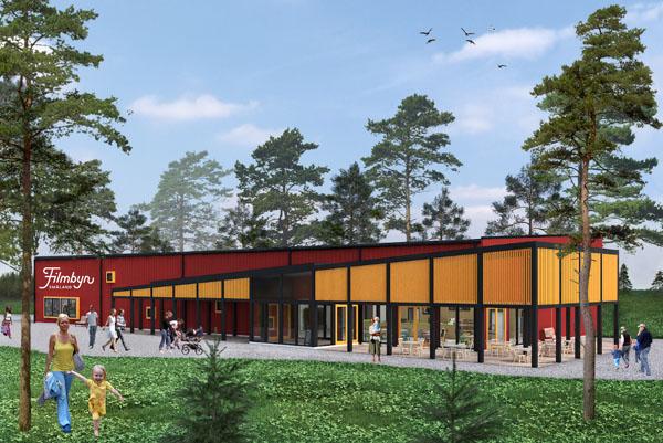 So soll das neue Filmdorf Småland aussehen. Skizze © Filmdorf Småland.