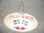 Schweden Türschild