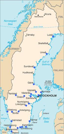 Unis in Schweden