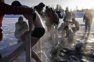 Winterbaden Schweden