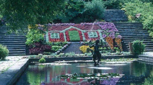 Sommerhaus Blumenmotiv
