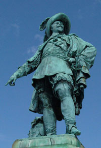 Als Städtegründer ist Gustav II. Adolf in Göteborg bekannt.