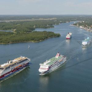 Der Hafen Mariehamn ist Ziel großer Touristen-Fähren. Foto: visitaland.com