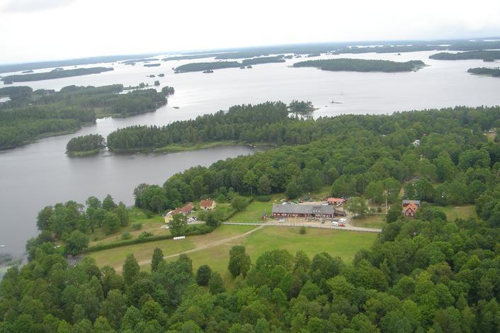 Das Lake Åsnen Resort ist ein privates Naturreservat am See. Foto: Visit Småland.