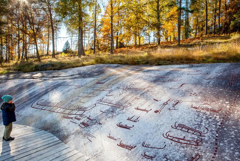 Die Felsritzungen in Tanum. Foto: Emelie Asplund, imagebank.sweden.se