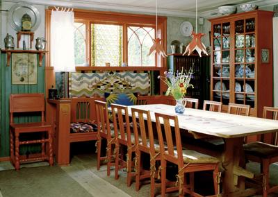 Das Heim des Künstlers Carl Larsson ist wie zu dessen Lebzeiten erhalten. Foto: Carl Larsson gården