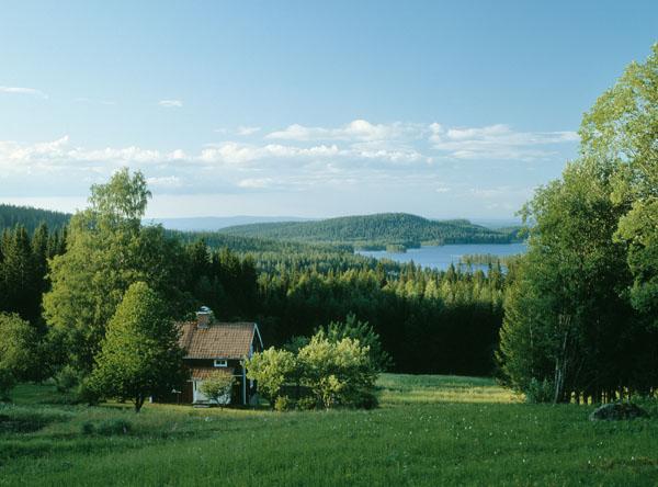 Das abfgelegene Haus am See kann mitunter vom Netz abgeschnitten sein. Foto: Håkan Vargas S/ imagebank.sweden.se