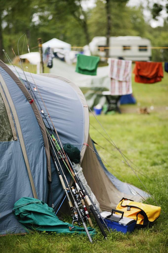 Camping in Schweden.
