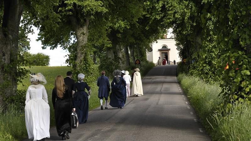 Geschichte wird lebendig in Östergötland, zum Beispiel rund um Ljungs slott. Foto: Föreningen Ljungs Slotts bevarande.