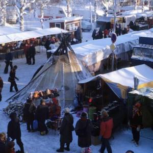 Schweden Schwedenstube Erlebnis am Polarkreis: Der Jokkmokk Wintermarkt