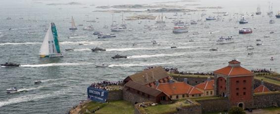 Regatta von Älvsborgs Fästning aus gesehen. Foto: Volvo
