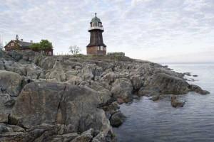 Der Leuchtturm Bergudden auf Holmön. Foto: Jörgen Wiklund/ imagebank.sweden.se