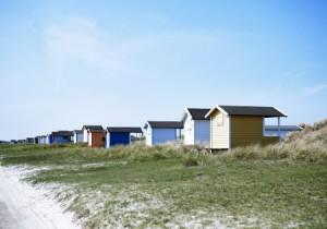 Falsterbo Beach mit den charakteristischen Strandhütten. Foto: Anna Kern/ Etsabild/ Johnér