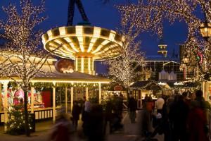 Fünf Millionen Lichter erleuchten den Freizeitpark Liseberg. Foto: Stefan Karlberg