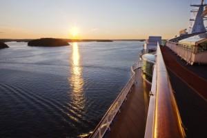 Kreuzfahrt in Richtung Mitternachtssonne. Foto: Mikael Dubois/ Birka Cruises