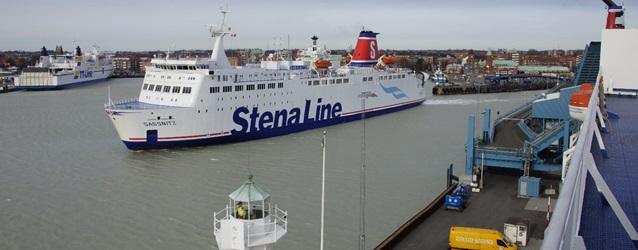 Der Fährhafen Trelleborg ist jetzt wieder mit dem Schienennetz verbunden. Foto: Stena Line