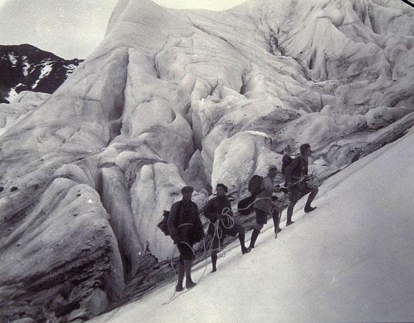 Besteigung des Kebnekaise zu Beginn des 20. Jahrhunderts