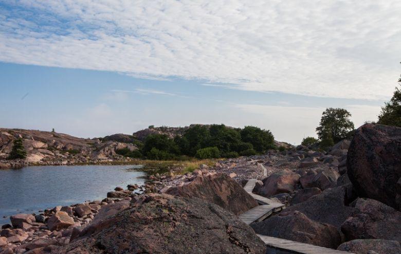 Einsame Insel in Schweden