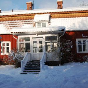 Astrid Lindgrens Elternhaus Näs im Winterkleid. Foto: Astrid Lindgrens Näs.