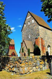 Die Kirche mit dem Grab von Anders Celsius