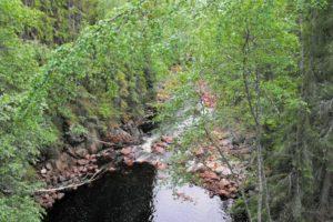 Blick in eine kleine Schlucht des Flusses Halgár