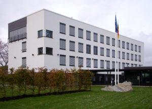 Das Gebäude der deutschen Botschaft in der schwedischen Hauptstadt Stockholm.