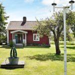 Ferienhaus in Schweden - Brunnen vor dem Haus mit Natur