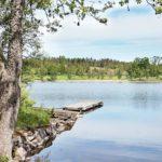Ferienhaus in Schweden - ruhiger großer See vor dem Haus