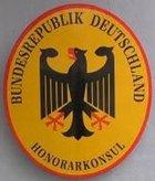 Wappen der deutschen Botschaft in Stockholm.