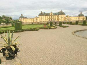 Blick aus den Königlichen Gärten in Richtung Schloss