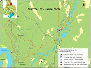 Brattfallet und den Trail. Bild geliehen in Hagfors