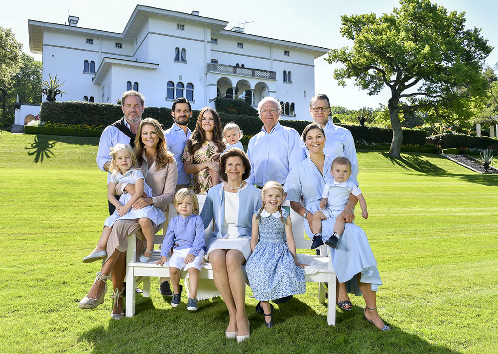 Königsfamilie Schweden Solliden