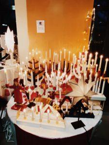 Schwedische Weihnachtsbeleuchtung
