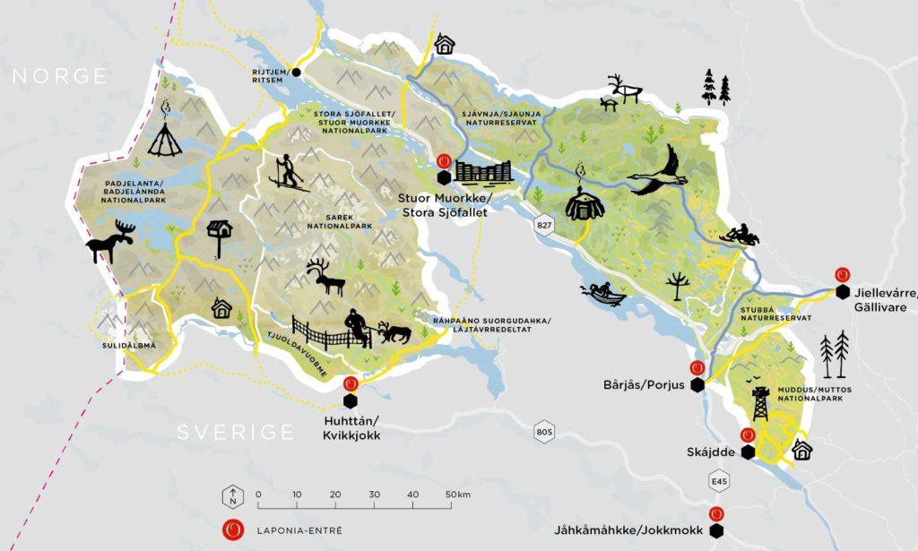 Laponia Karte