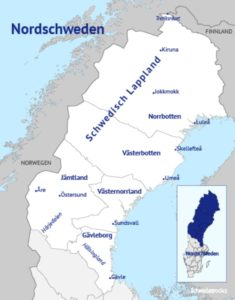 Die touristische Region Schwedisch-Lappland