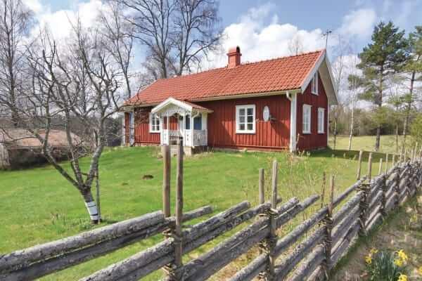 Schweden Ferienhaus Ambjoernarp Aussenansicht