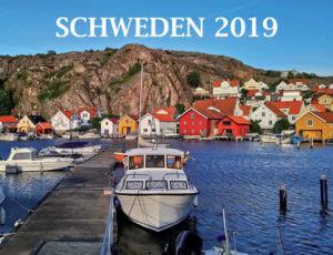 Kalender für Schweden-Fans Front des Schweden-Kalenders 2019, Schiff im Hafen