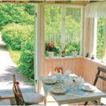 Ferienhaus Aneby, Küche mit Balkon