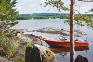 Das Jedermannsrecht reglementiert in Schweden auch den Wassersport.