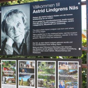 Schild zum Astrid Lindgrens Näs